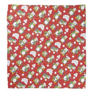 Christmas penguins background bandana