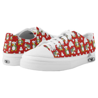 Christmas penguins background low tops