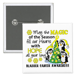 Christmas Penguins Bladder Cancer Pinback Buttons
