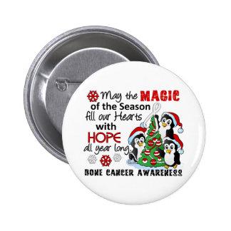 Christmas Penguins Bone Cancer Pinback Button