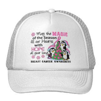 Christmas Penguins Breast Cancer Trucker Hat