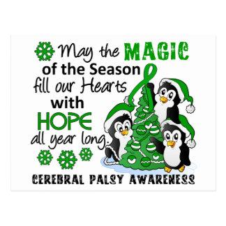 Christmas Penguins Cerebral Palsy Postcard