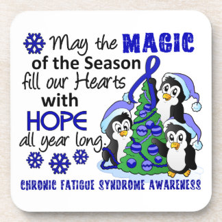 Christmas Penguins Chronic Fatigue Syndrome CFS Drink Coasters