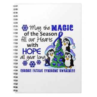 Christmas Penguins Chronic Fatigue Syndrome CFS Note Book