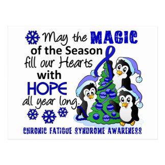 Christmas Penguins Chronic Fatigue Syndrome CFS Postcard