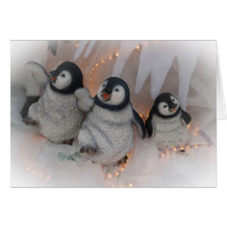 Christmas Penguins Dancing Card