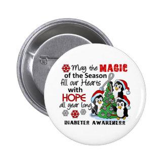Christmas Penguins Diabetes Buttons