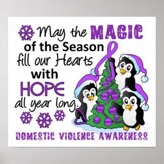 Christmas Penguins Domestic Violence Print