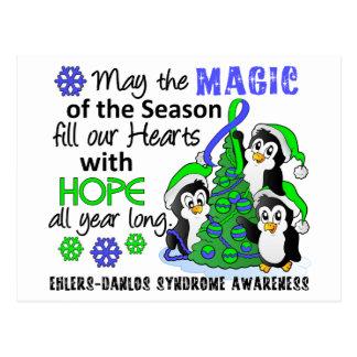 Christmas Penguins Ehlers Danlos Syndrome EDS Postcard