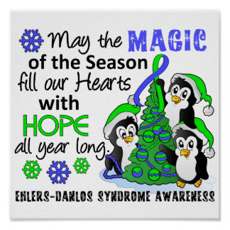 Christmas Penguins Ehlers Danlos Syndrome EDS Poster