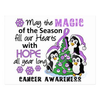 Christmas Penguins General Cancer Postcard