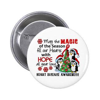 Christmas Penguins Heart Disease Pins