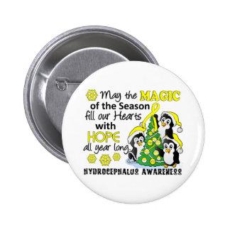 Christmas Penguins Hydrocephalus Button