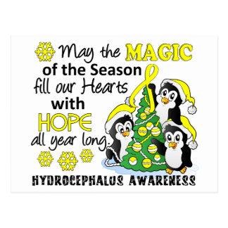 Christmas Penguins Hydrocephalus Postcard