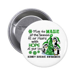 Christmas Penguins Kidney Disease Pins