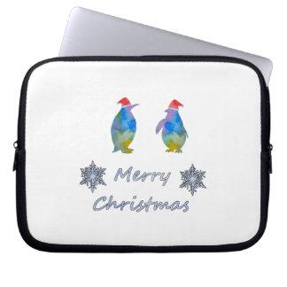 Christmas Penguins Laptop Sleeve