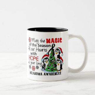Christmas Penguins Melanoma Mug