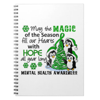 Christmas Penguins Mental Health Note Books