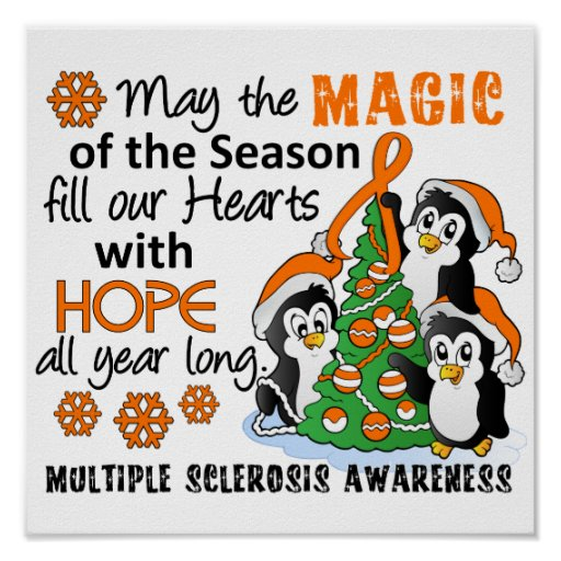 Christmas Penguins Multiple Sclerosis MS Print