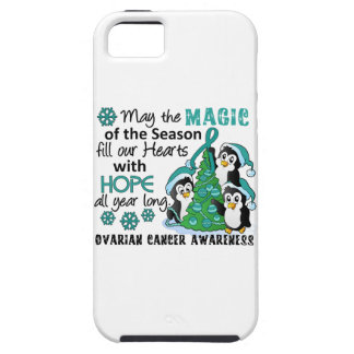Christmas Penguins Ovarian Cancer iPhone 5 Covers