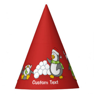Christmas penguins party hat