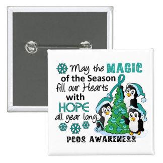 Christmas Penguins PCOS Pinback Button