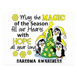 Christmas Penguins Sarcoma Postcard
