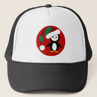 Christmas Penquin Trucker Hat