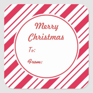 Christmas Peppermint Gift Tag Stickers