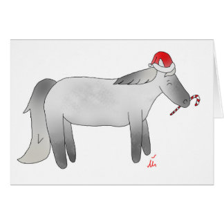 Christmas Peppermint Pony Card