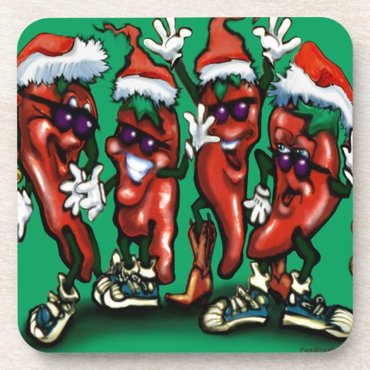 Christmas Peppers Coaster