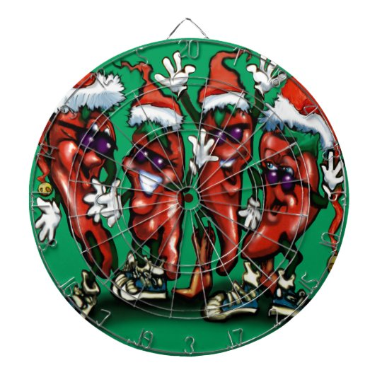 Christmas Peppers Dartboard
