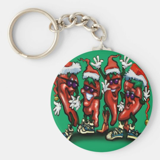 Christmas Peppers Key Ring