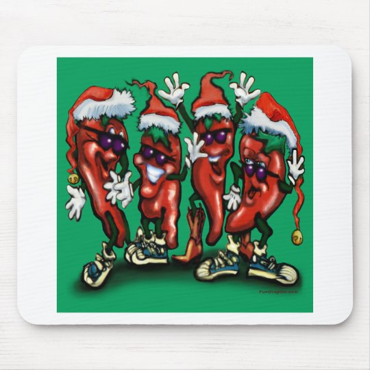 Christmas Peppers Mouse Pad