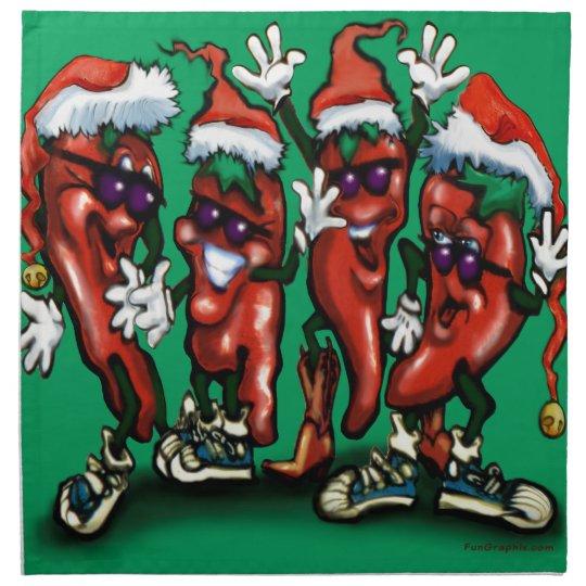Christmas Peppers Napkin