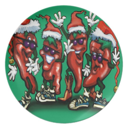 Christmas Peppers Plate