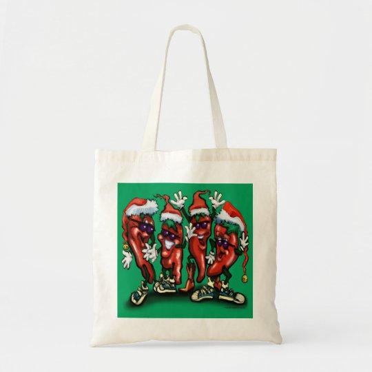 Christmas Peppers Tote Bag