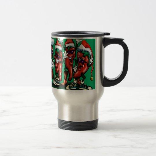 Christmas Peppers Travel Mug