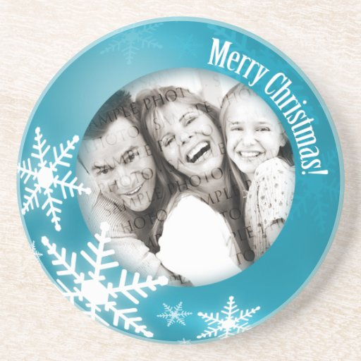 Christmas Personalized photo coaster