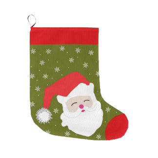 Christmas Personalized Santa Claus Large Christmas Stocking