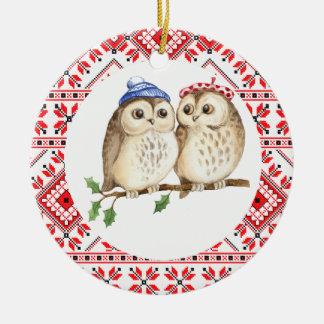 christmas pet owls woodland animals  decoration