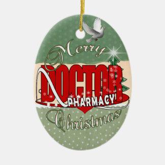 CHRISTMAS PHARMACY DOCTOR CERAMIC ORNAMENT