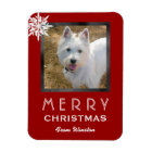 Christmas Photo 3x4 Greeting From the Dog / Pet Magnet