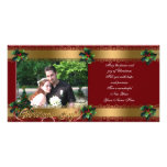 Christmas photo card elegant  gold classic