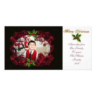 Christmas photo card holly
