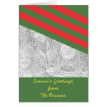 Christmas Photo Card in Red and Green