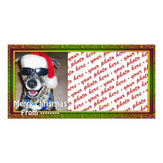 Christmas Photo Card or Photo Gift Tag Photo Greeting Card