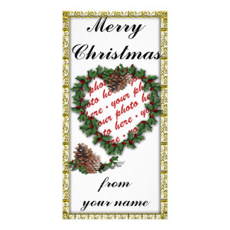 Christmas Photo Card or Photo Gift Tag Photo Card Template