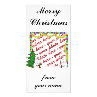 Christmas Photo Card or Photo Gift Tag Customized Photo Card