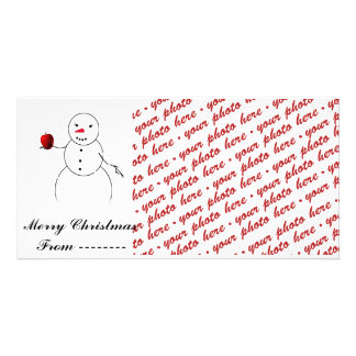 Christmas Photo Card or Photo Gift Tag Personalized Photo Card